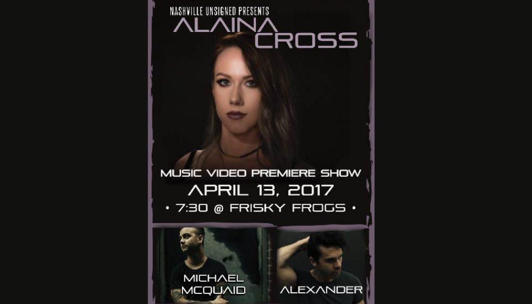 alainda cross nashville music video release show